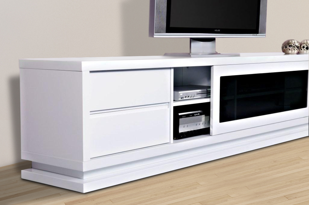gloss white tv unit the preston first in furniture. Black Bedroom Furniture Sets. Home Design Ideas