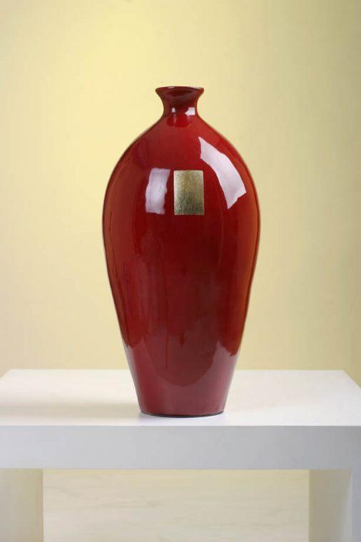 Red Gold Vase - $39