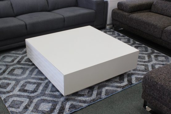 gloss white square coffee table
