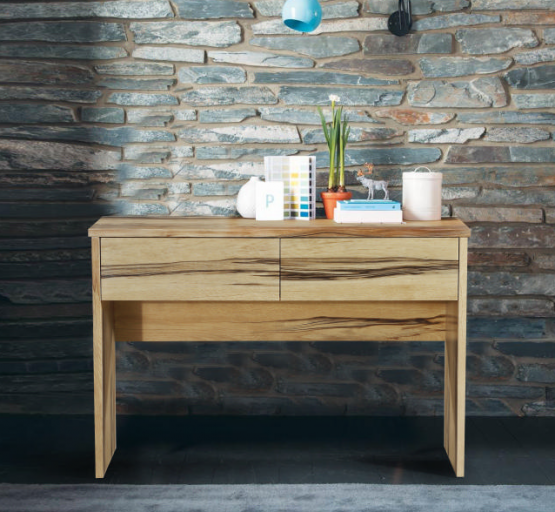 marri wood console hall table