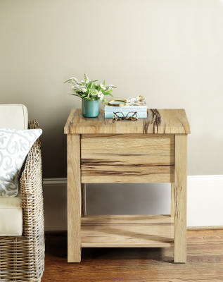 marri wood lamp side table